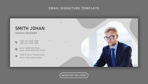 Modello di progettazione della copertina dei social media personali della firma e-mail