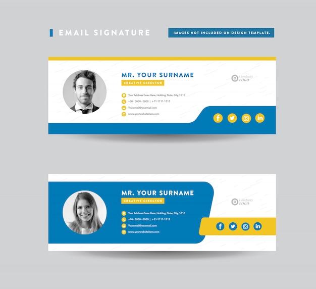 Progettazione del modello di firma e-mail | piè di pagina e-mail | copertura personale dei social media