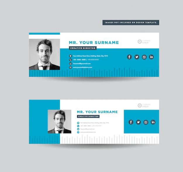 Progettazione del modello di firma e-mail   piè di pagina e-mail   copertura personale dei social media