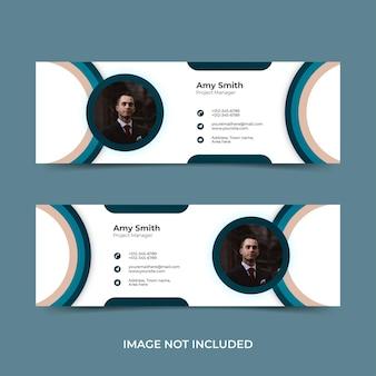 Modello di firma e-mail o piè di pagina e-mail e design di copertina dei social media personali
