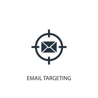Icona di targeting e-mail. illustrazione semplice dell'elemento. design del simbolo del concetto di targeting e-mail. può essere utilizzato per web e mobile.