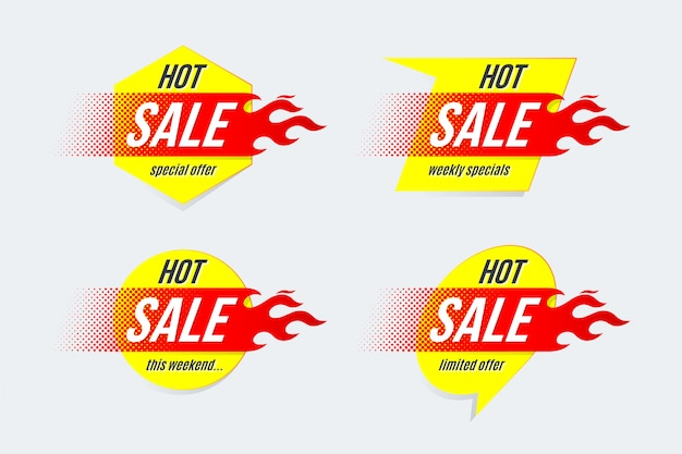 Emblema modello di etichette di offerta di offerta di prezzo di vendita calda