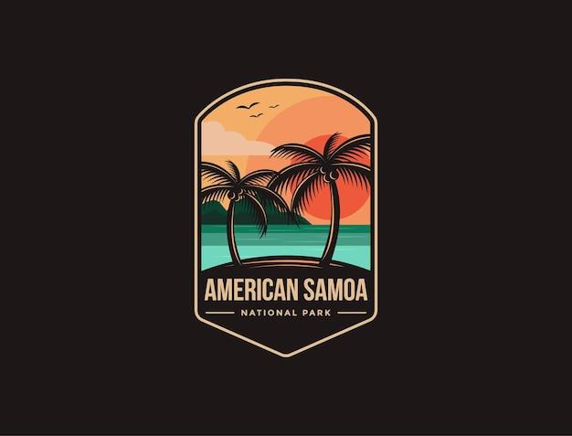 Logo della toppa dell'emblema del parco nazionale delle samoa americane