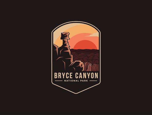 Logo patch emblema del parco nazionale di bryce canyon