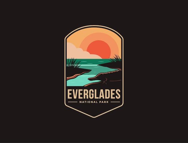 Logo della toppa dell'emblema del parco nazionale delle everglades