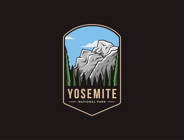 Logo della toppa dell'emblema del parco nazionale di yosemite