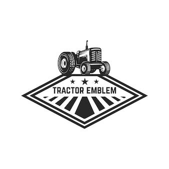 Modello di emblema con trattore