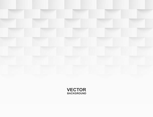 Sfondo bianco quadrato geometrico goffrato