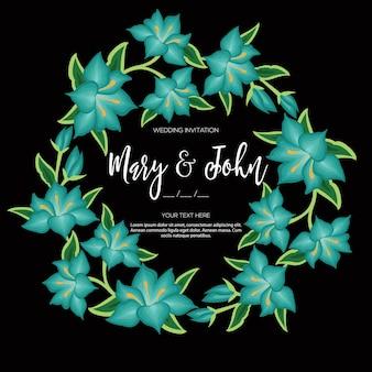 Stile di ricamo da invito a nozze floreale di oaxaca messico