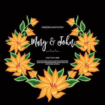 Stile di ricamo da oaxaca, messico - invito a nozze floreale