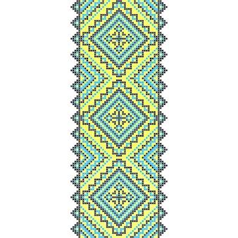 Ricamo. decorazione ornamento nazionale ucraino. illustrazione vettoriale