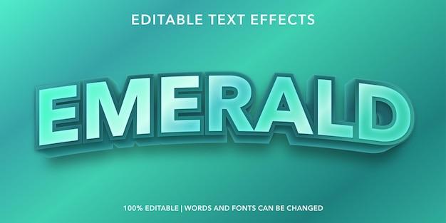 Effetto testo modificabile smeraldo
