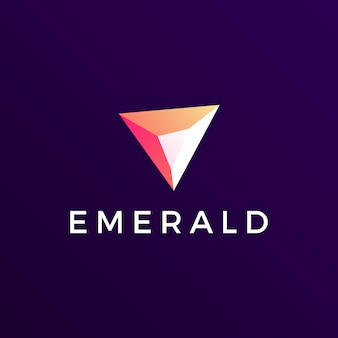 Emerald gem logo icona illustrazione