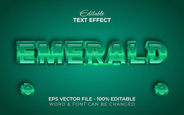 Stile effetto testo smeraldo effetto testo modificabile