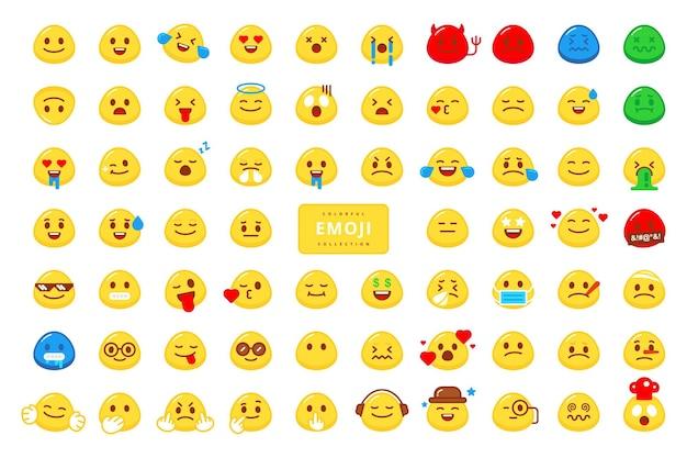 Disegno vettoriale di raccolta di caratteri emoji