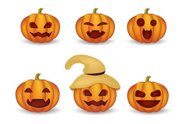 Cartone animato carino emoji per illustrazione di halloween