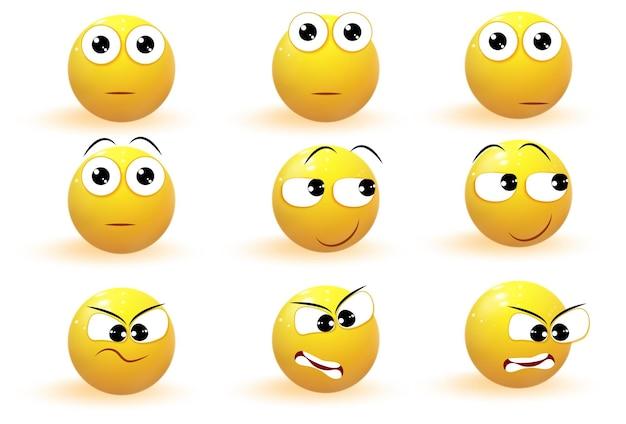 Collezione di icone di emozione emoji