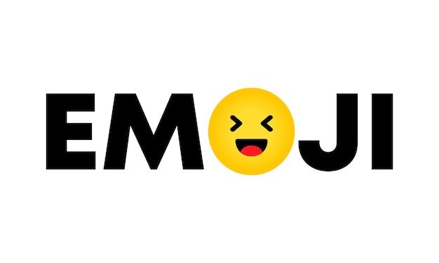 Icona di emoji. poster con testo giornata mondiale emoji. banner per biglietto di auguri, logo, timbro o banner. eps vettoriale 10