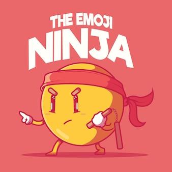 Illustrazione di emoji ninja.