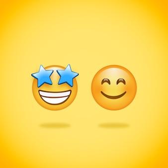 Emoji smile star