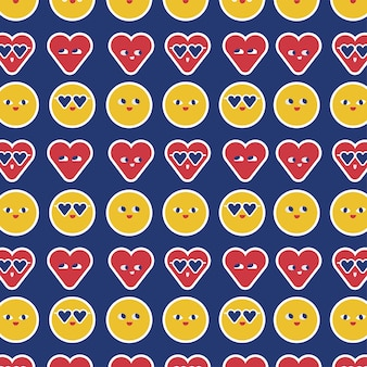 Modello senza cuciture di emoji