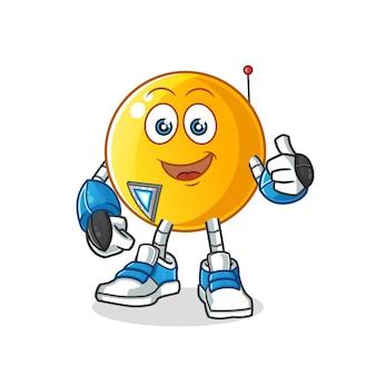 Emoticon robot personaggio dei cartoni animati mascotte