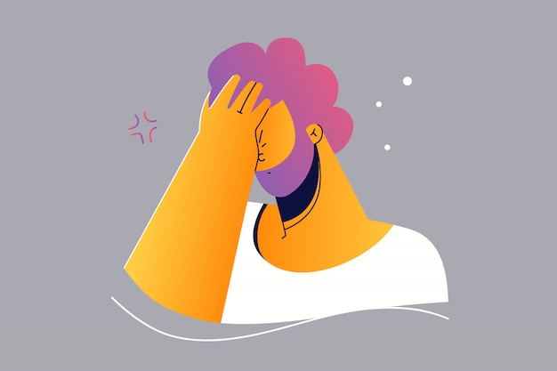 Emozione, viso, espressione, frustrazione, disperazione, stupidità, ricorda il concetto