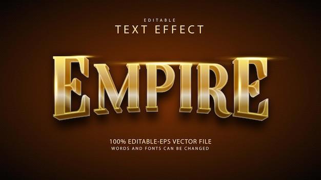 Effetto stile testo impero