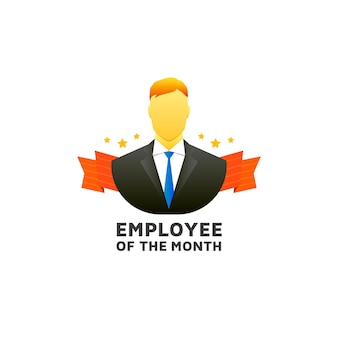 Modello dipendente del mese Vettore Premium