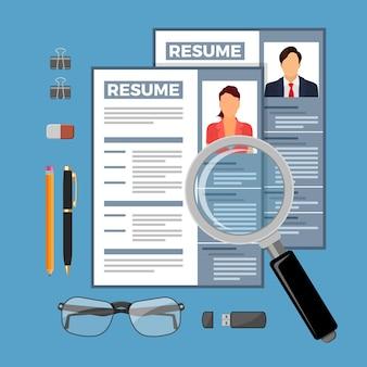 Illustrazione di concetto di reclutamento e assunzione di lavoro