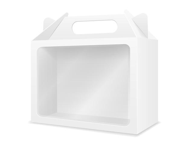 Modello vuoto per l'imballaggio della scatola di cartone vuota