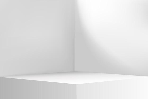 Angolo vuoto nella stanza. lo spazio interno della camera bianca.