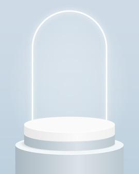 Podio del cilindro vuoto. design per la presentazione del prodotto.