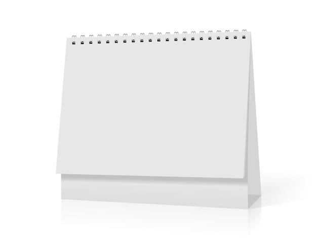 Il calendario da tavolo vuoto si trova sul tavolo