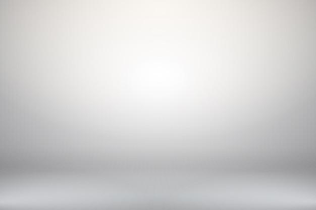 Studio vuoto orizzontale astratto bianco sfumato stanza con illuminazione