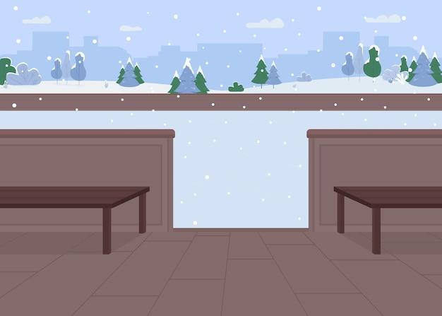 Illustrazione di colore piatto anello di ghiaccio vuoto