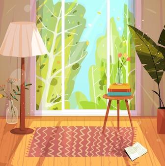 Design di alloggi accoglienti soggiorno vuoto