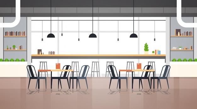 Interno vuoto moderno del caffè Vettore Premium