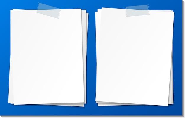 Modello di carta vuoto nota bastone con nastro adesivo