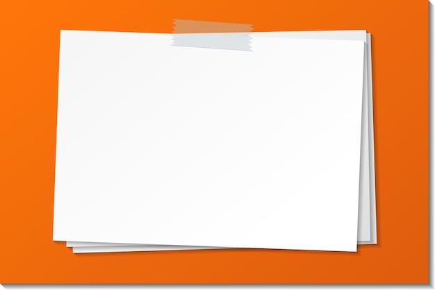Bastone vuoto del modello della nota di carta con nastro adesivo