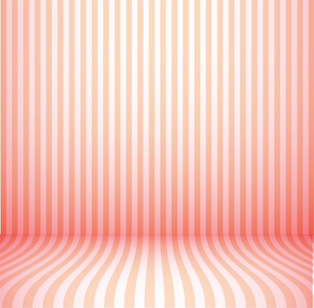 Stanza rosa vuota dello studio, fondo di illuminazione