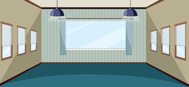 Interior design della stanza vuota