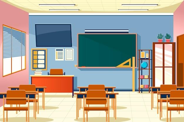 Sfondo di classe scolastica vuota per videoconferenze