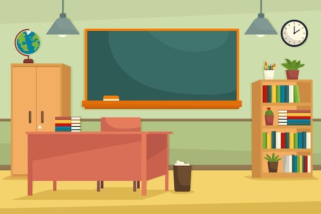 Priorità bassa di conferenza di classe scuola vuota