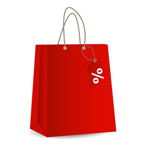 Sacchetto della spesa vuoto per la pubblicità e l'illustrazione di vettore del marchio eps10