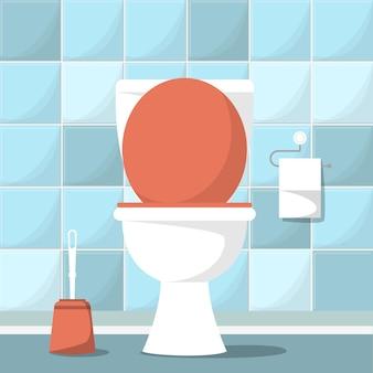 Illustrazione di progettazione della stanza vuota della toilette