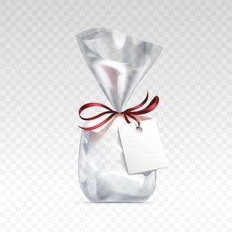 Sacchetto regalo in plastica trasparente vuota