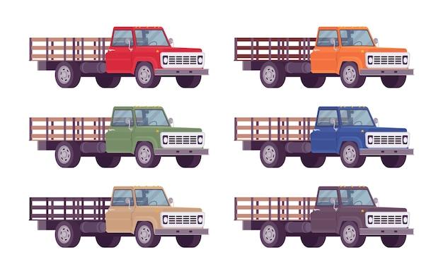 Camion vuoto in colori vivaci