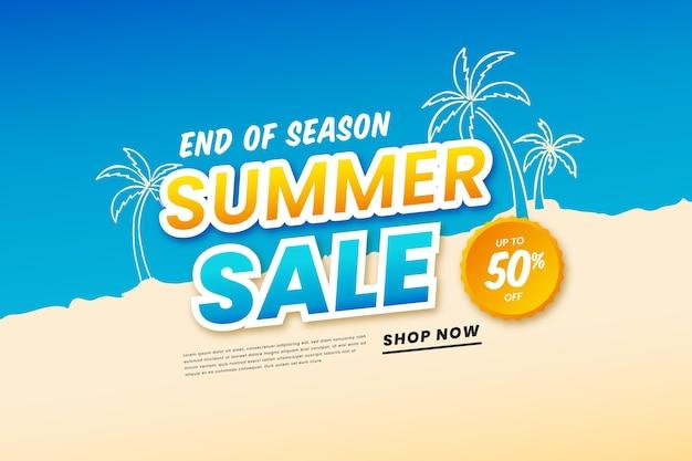 Sconti di vendita di fine estate