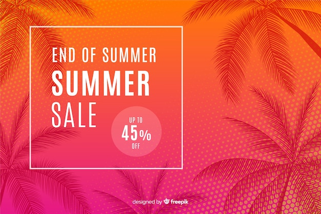 Fine dei saldi estivi Vettore Premium